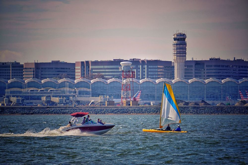 My Friday lunchtime view. Lunch in the city, sittin' pretty Potomac River Airport At The Airport Boats River View River Hains Point Scenic View Landscape Urban Views Urbanphotography Urban Landscape