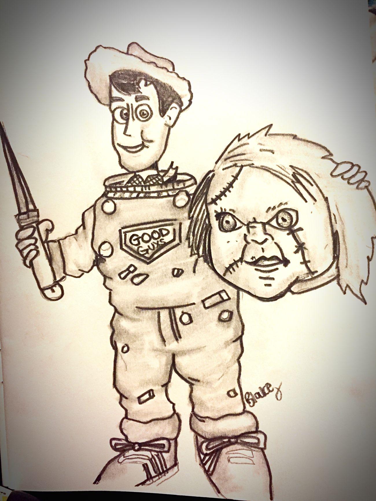 Toystory Woody Art Chucky Pixar