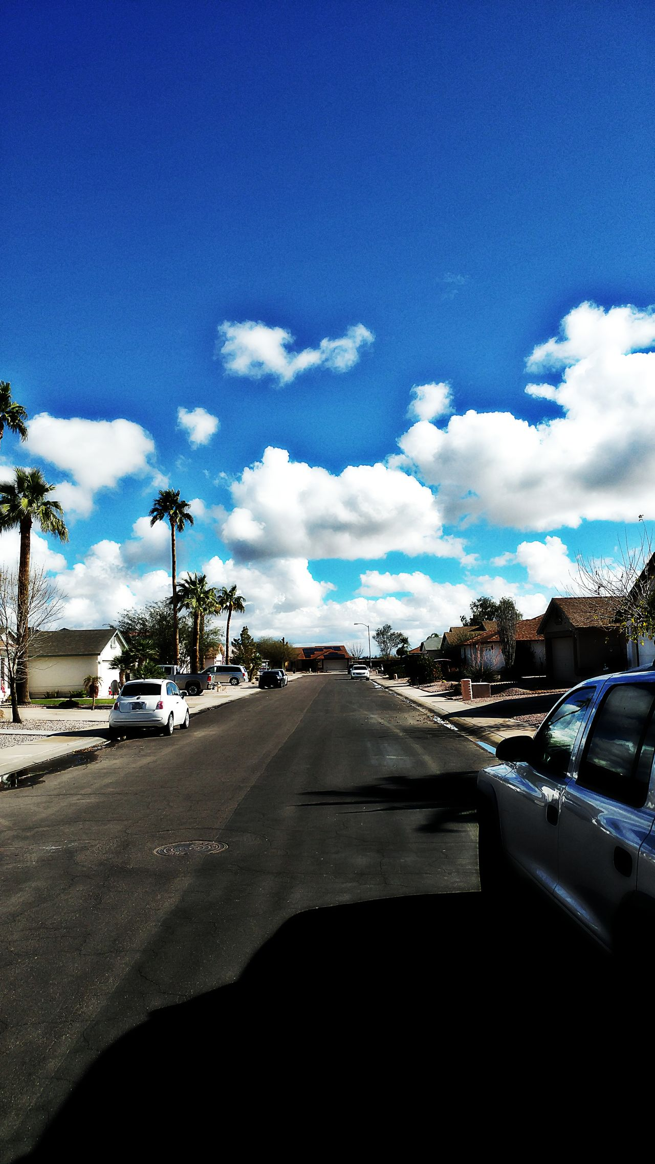 street Car Transportation Land Vehicle Tree Road Sky Mode Of Transport Blue Street The Way Forward Car Interior Cloud - Sky Travel Day Windshield No People Outdoors Nature Casa Grande Az