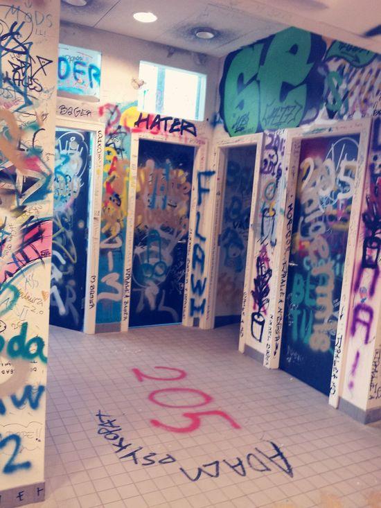 Fucktherules Graffiti Toilet Toilet Art