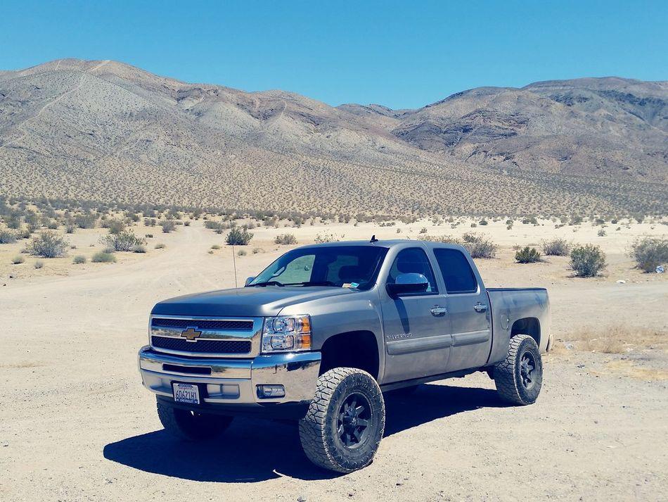 Mojave Muscle 2 Truck Trucks Liftedtrucks Chevrolet Silverado 2012 Mohave Desert Dirt Rocks Dirt Road Offroad Mud Tires Allterrain AllTerrainVehicle Pickup Truck Daytime Color Daylight