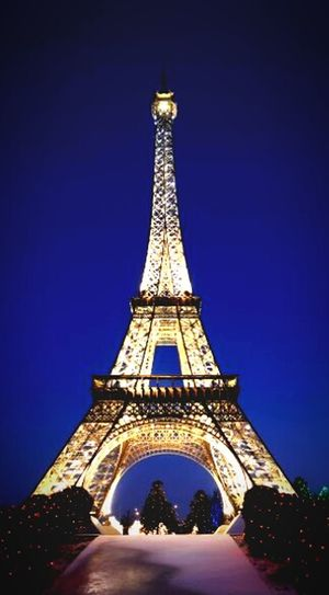 Paris🗼❤👌 Tower Travel Destinations History Architecture Travel Monument No People Blue City Outdoors Night Winter Tree Cityscape Illuminated Sky
