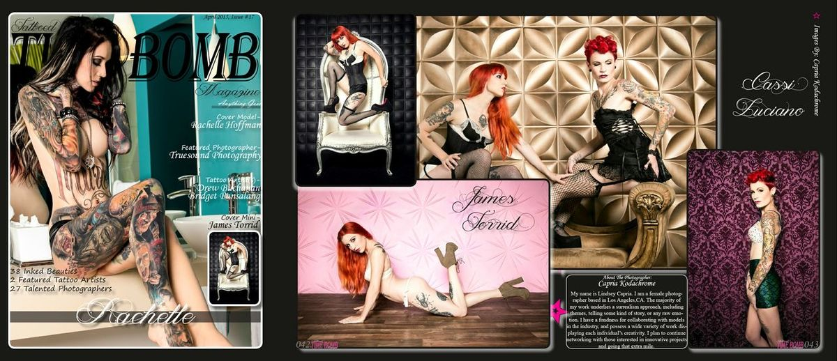 Magazine Publication Publication Tattoo Model Studio Photography Alternativemodel Lingerie Corset Tattoomodels Tearsheet