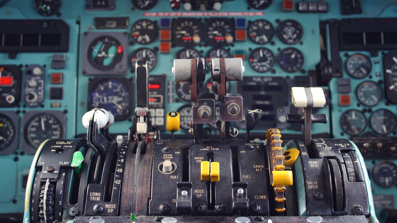 Control Panel Industry Indoors  No People Complexity Technology Airplane Close-up Gauge Vehicle Part Day Cockpit Mother Board Md-82 Break The Mold Old Old-fashioned Aircraft Throttle Md82 Still Life BYOPaper! Let's Go. Together.
