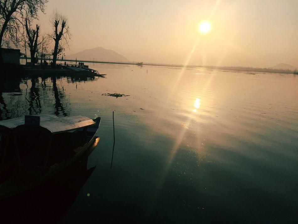Kcphotography Nature No People Tree JammuandKashmir Sunset Sunlight Lake