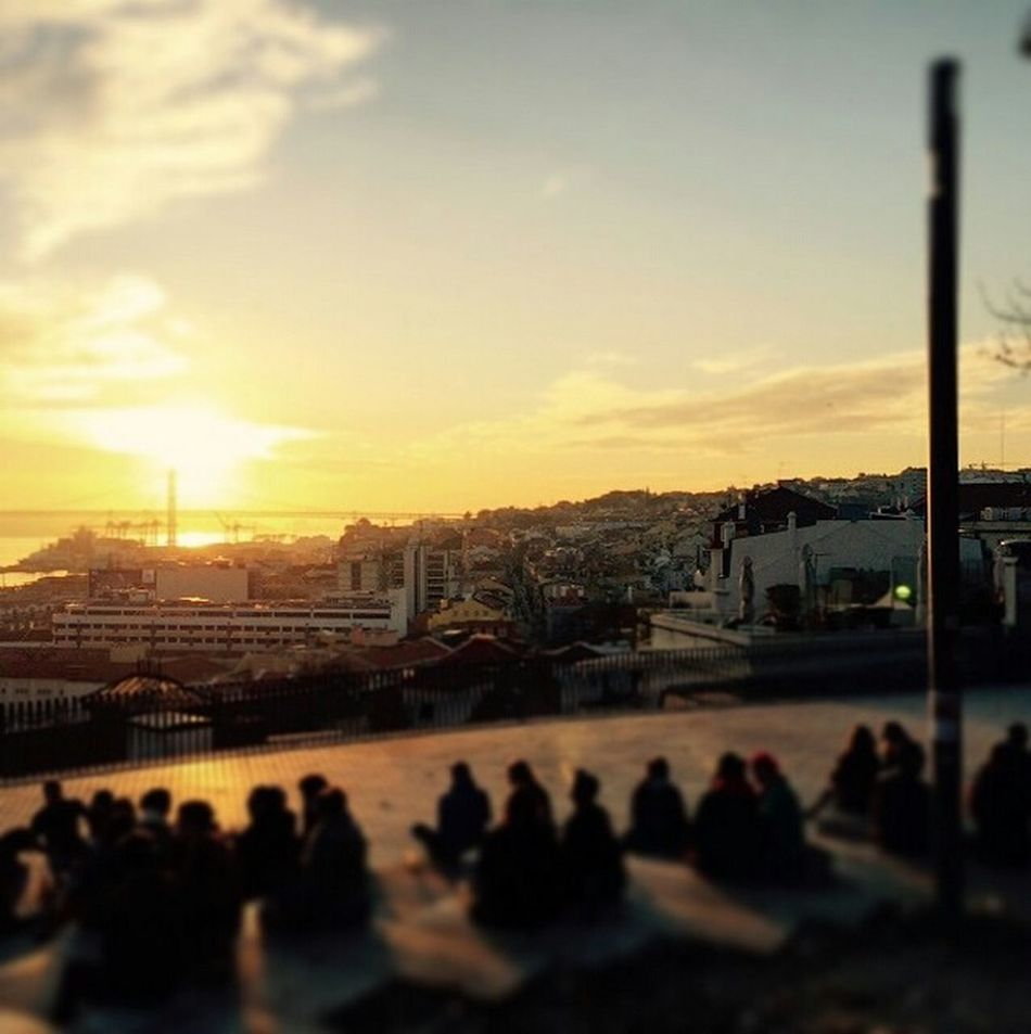 In love with Lisbon. Sunset Bairroalto Enjoying The View