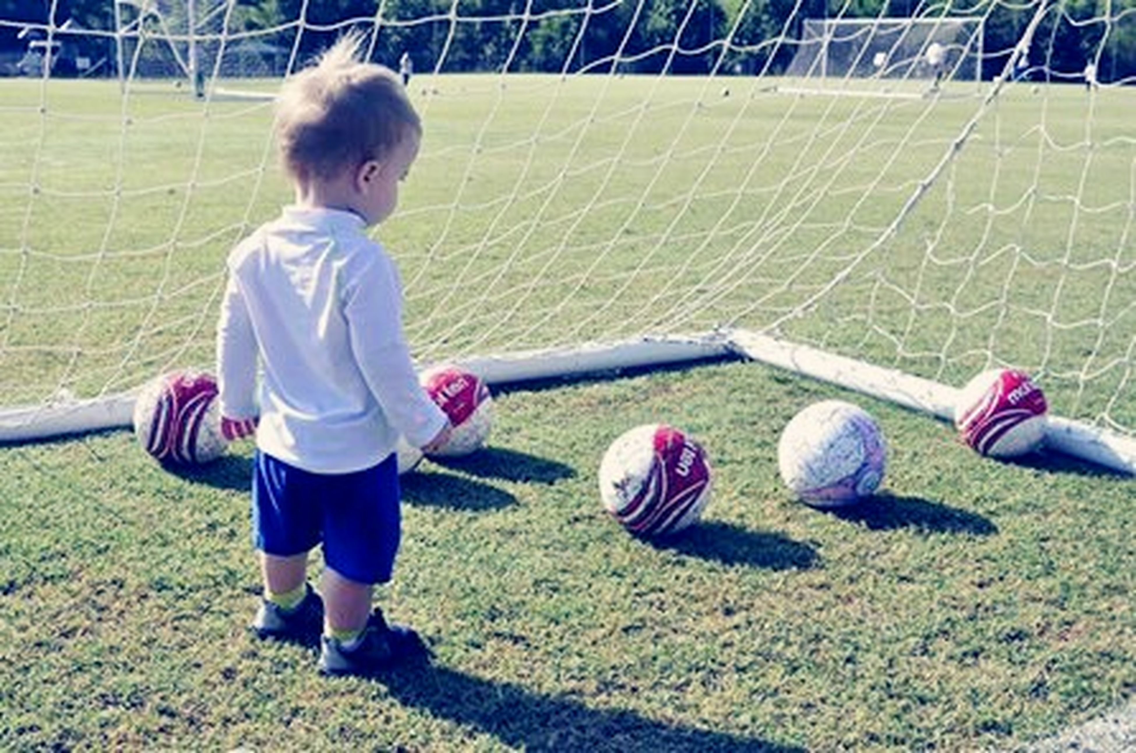 childhood, boys, elementary age, grass, girls, lifestyles, innocence, full length, casual clothing, leisure activity, cute, playing, playful, toddler, park - man made space, high angle view, day