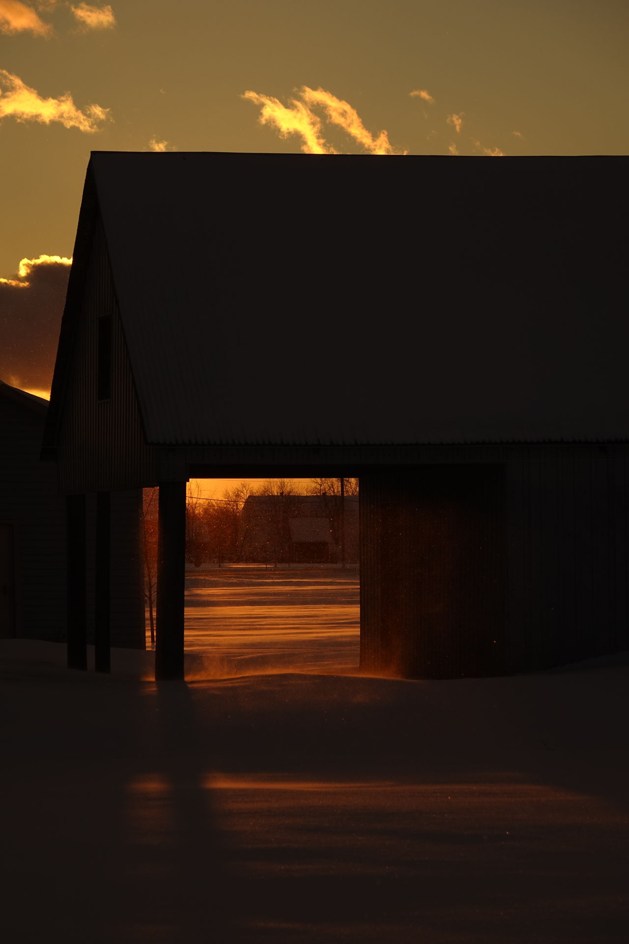 Snow Blowing Snow Sunset Natural Light Wintertime Cold Temperature Beautiful Light Barn Winter Rural Scene Barns Sunlight Sunset_collection Winter Wonderland Sunset Lovers Rural Cold Eye4photography  Getting Inspired EyeEm Best Shots Snowflakes Illuminated