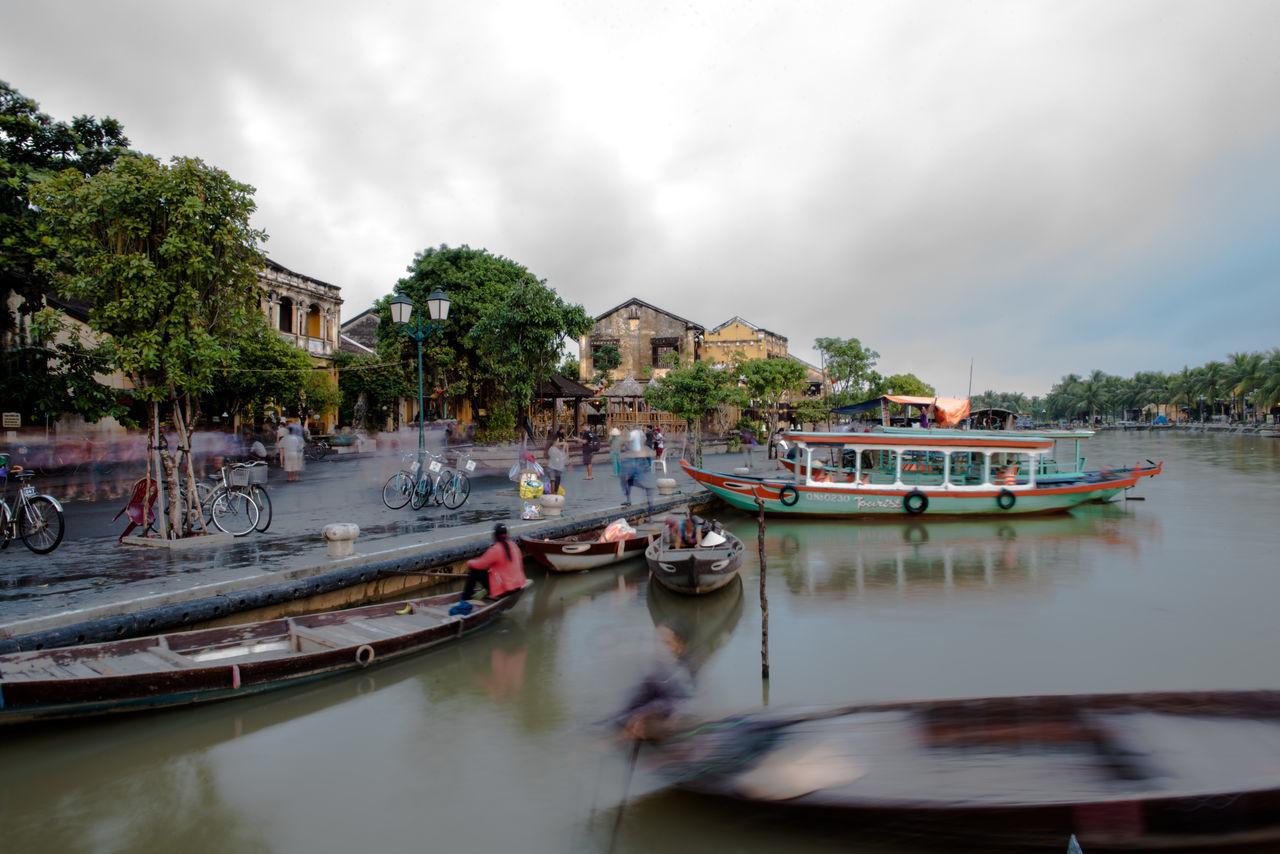 Boat Canal Gondola Gondola - Traditional Boat Longtimeexposure Mode Of Transport Moving Vietnam Vietnam Trip Vietnamese Vietnamphotography Water