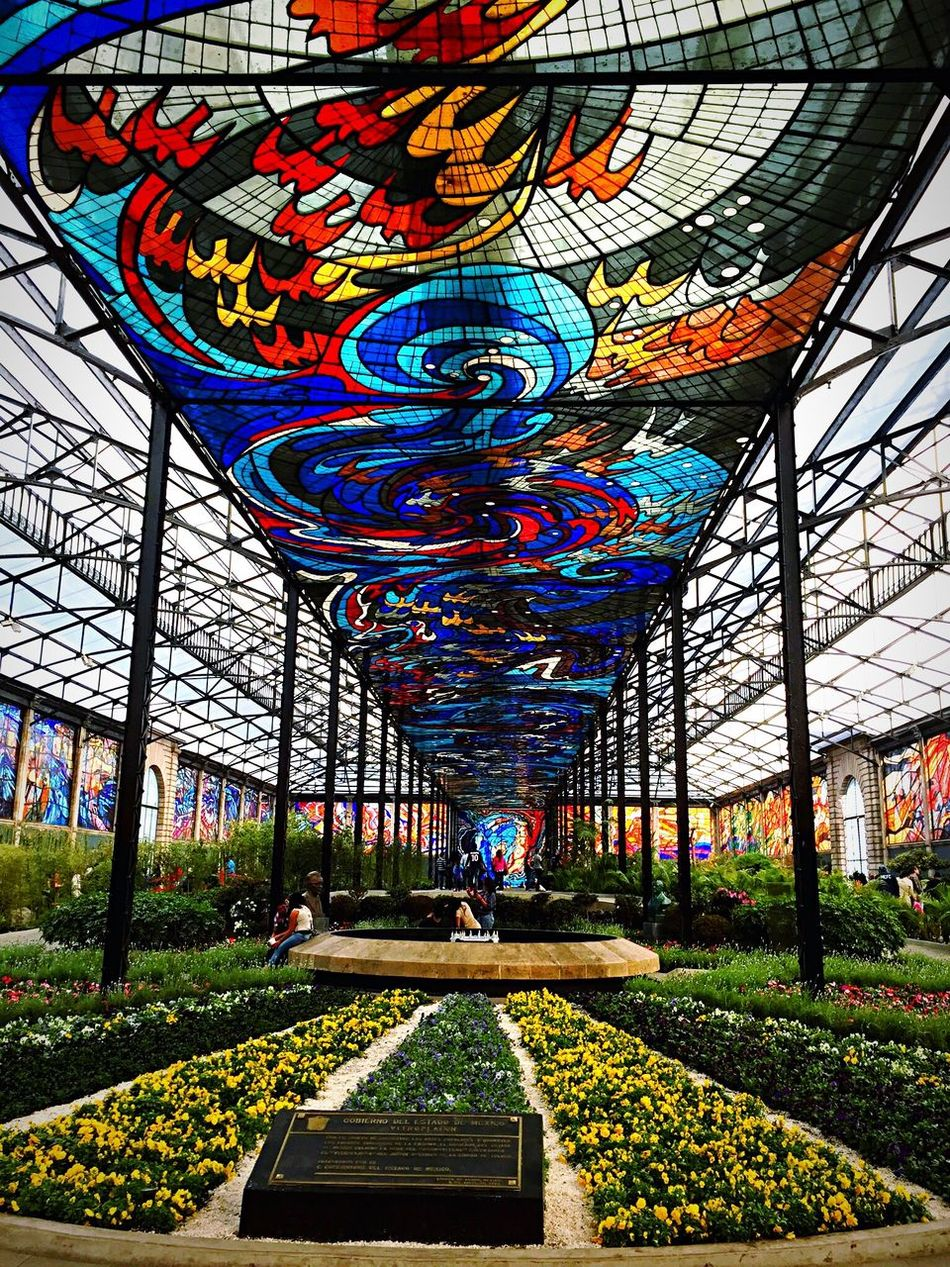 Built Structure Day Architecture Multi Colored Greenhouse Flower Nature Sky Travel Destinations Toluca Mexico Jardin Green Color Tree