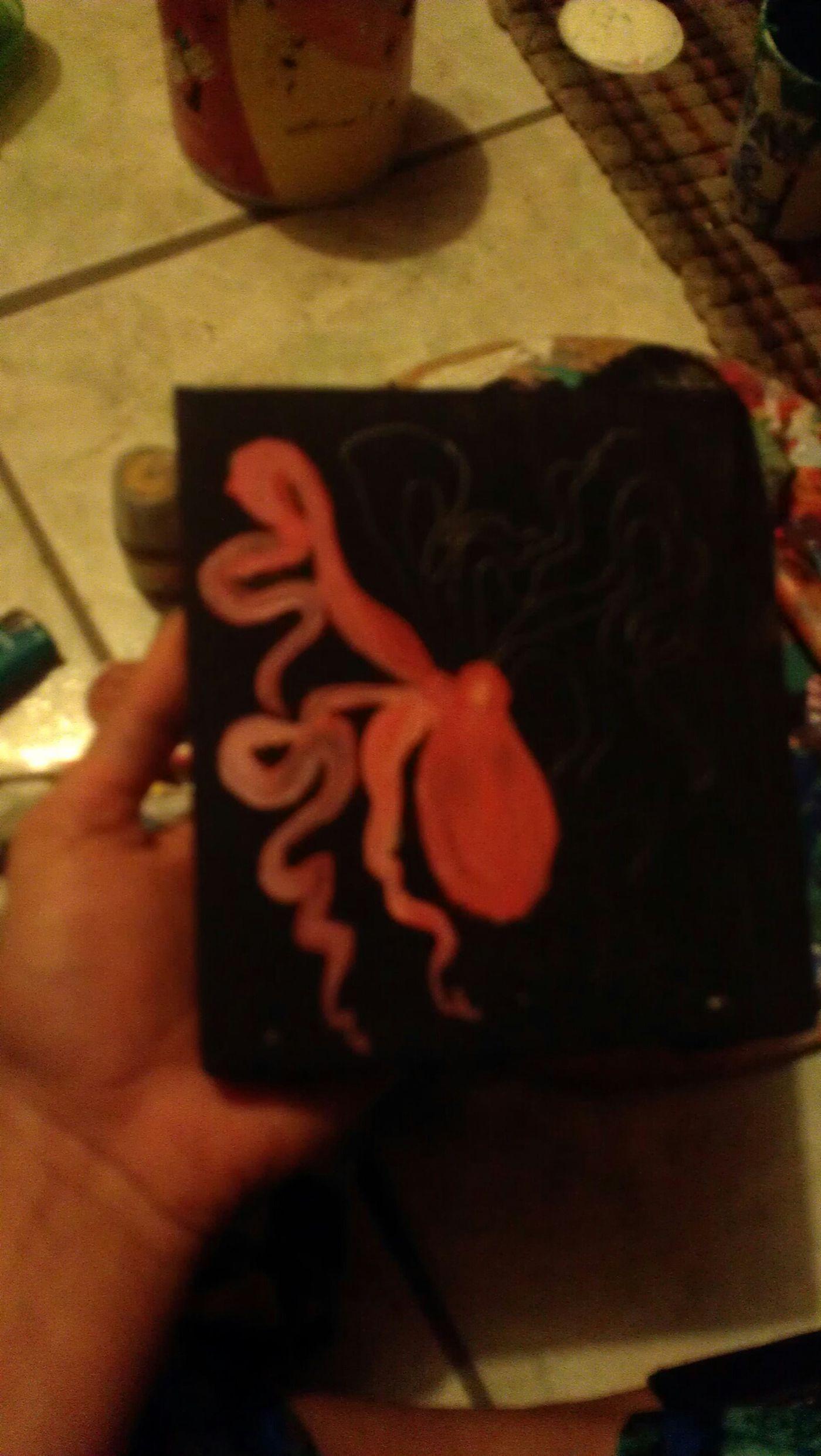 OCTOPUSSY Art Painting Octopus Acrilic Relaxing Time UrbanART Black Unstressing My Painting Enjoying Life