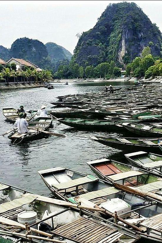 Sampans Tam Coc Ngo Dong River Ninh Bình Hoa Lu Northern Vietnam Vietnam Travelphotography Streetphotography