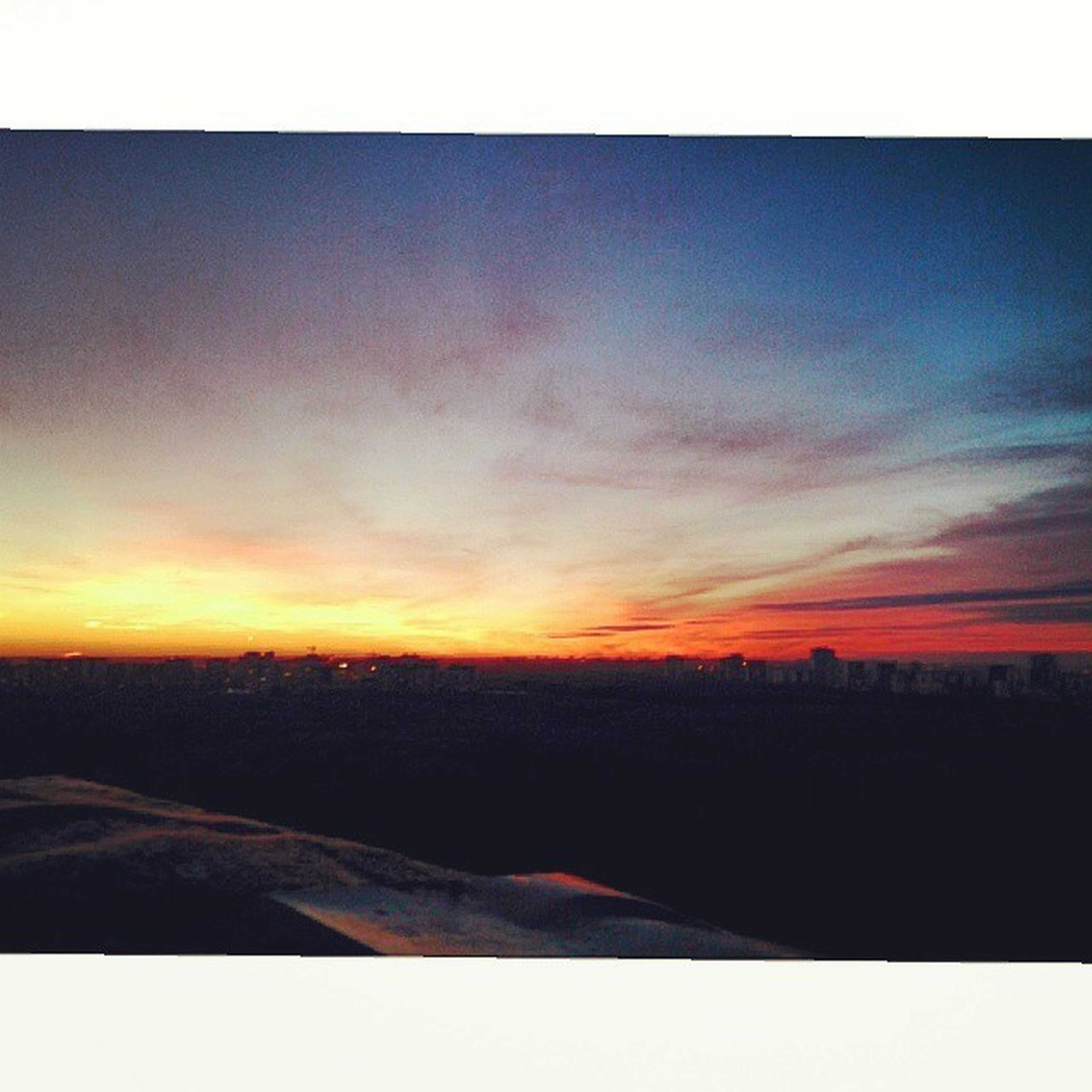 transfer print, sunset, auto post production filter, scenics, sky, tranquil scene, tranquility, beauty in nature, orange color, silhouette, landscape, nature, idyllic, cloud - sky, copy space, horizon over land, outdoors, no people, cloud, sunlight