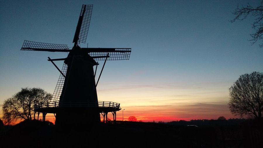 My Year My View Holland Netherlands, Soest Windmill Evening Silhouette No People Scenics Outdoors Rural Scene The Netherlands. Soest Windmill De Windhond Windmolen Soest Sky And Windmill No Filter