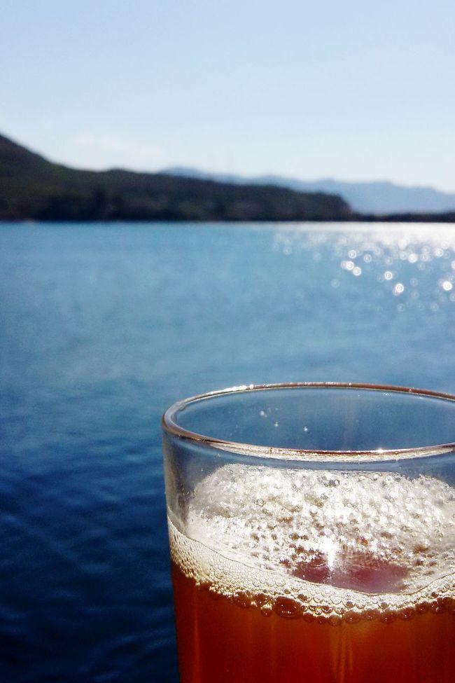 Buenos Dìas .. ^^ Tea Time Greentea Sea And Sky Foam Wonderful Jijel Jijel Algérie