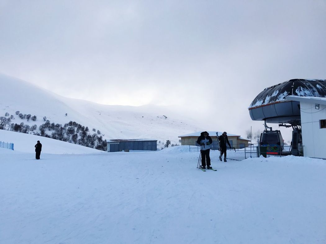 Bakuriani Ski Resort  Winter Snow Cold Temperature Weather Leisure Activity Lifestyles Real People Adventure Nature Sky Skiing Vacations Day Outdoors Beauty In Nature Ski Holiday Mountain Men Sport