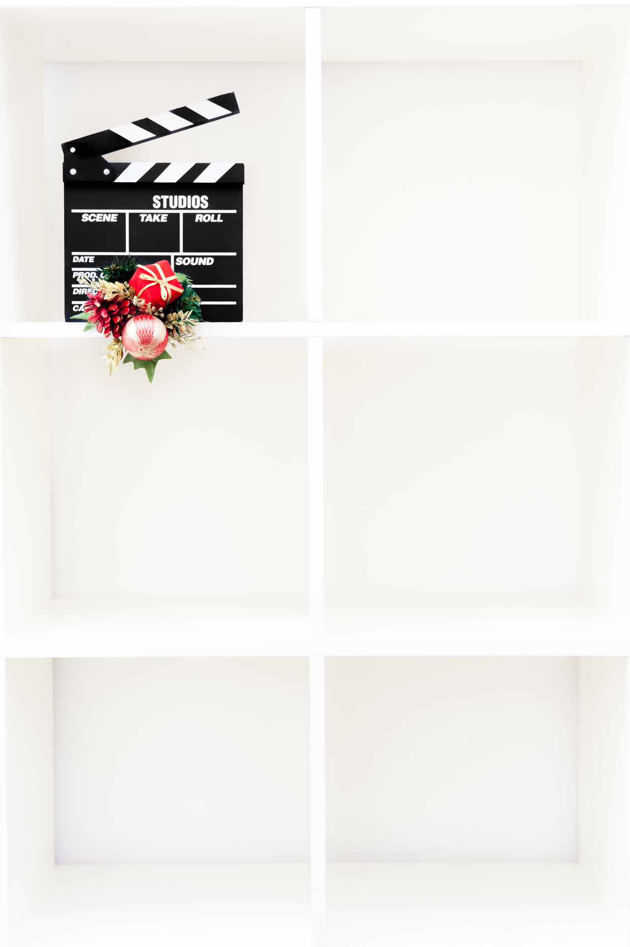 Christmas movie symbol Architecture Christmas Cinema Clapper Clapper Board Clapperboard Copy Space Film Holidays Home Showcase Interior Modern MOVIE No People Red Studio Shot Symbol White Color Winter