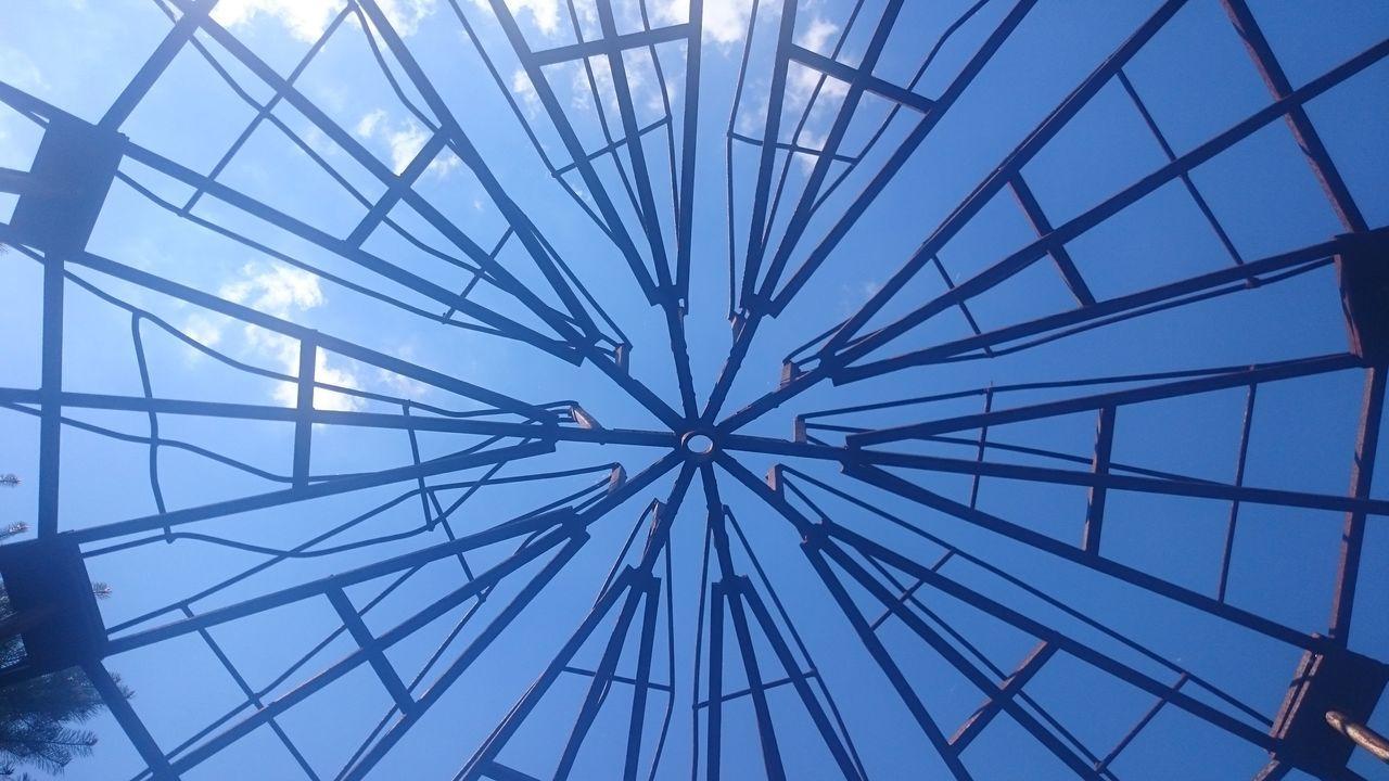Sky Art And Nature Art And Sky Blue Südgelände SüdgeländeambahnhofSüdkreuz Berlin Park Art Shapes Blue Sky Modern Art In The Park The Architect - 2016 EyeEm Awards