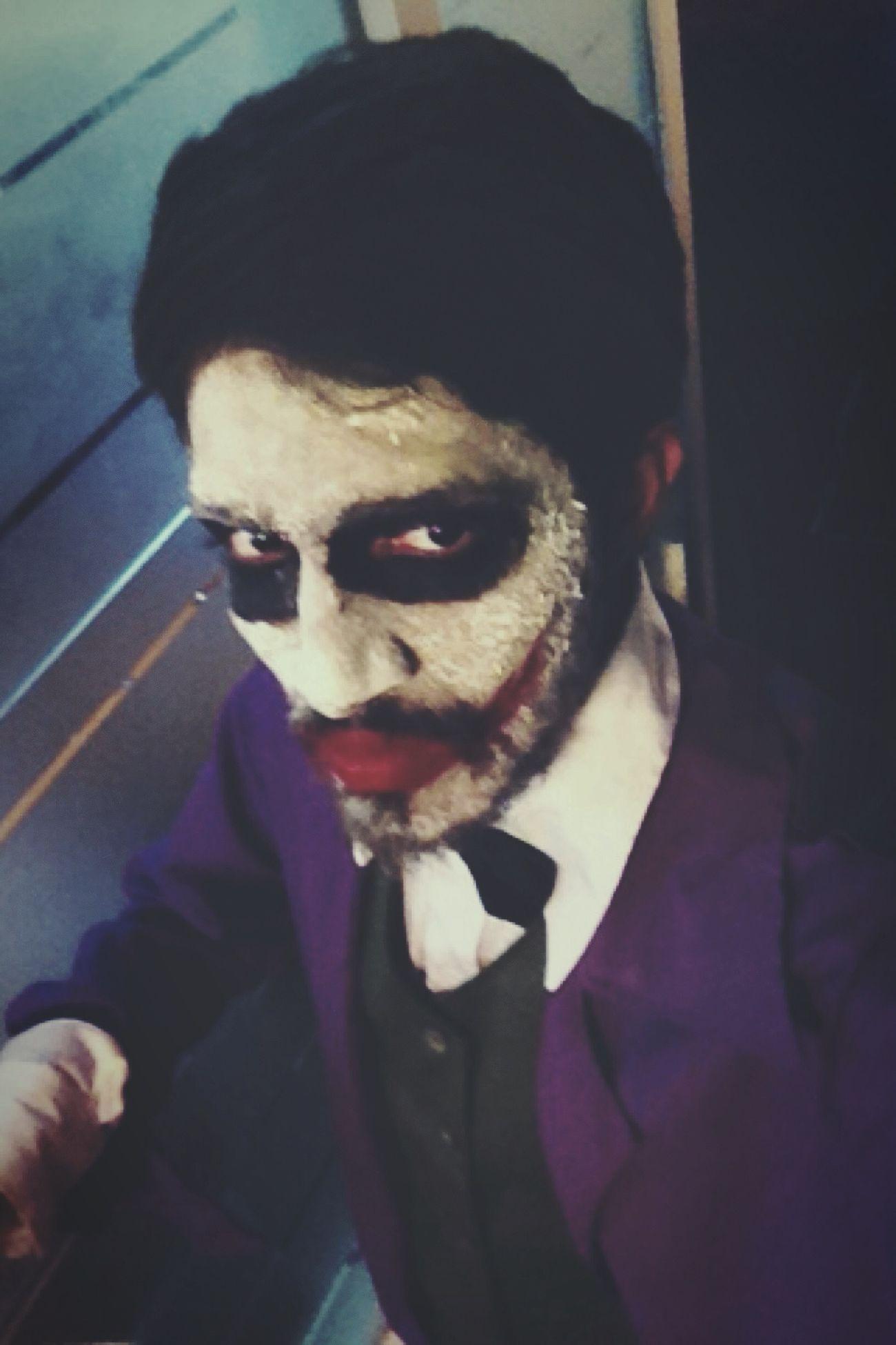 The Joker Jokercosplay Villians & Vamp Day College MeToday Face Colour Batman Fan Selfie Self Portrait Rsa_mystery Vscocam