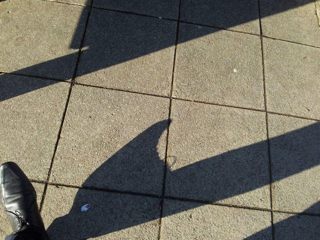 Shoe shoe and shadow. Left Foot Best Foot Forward Walking Around