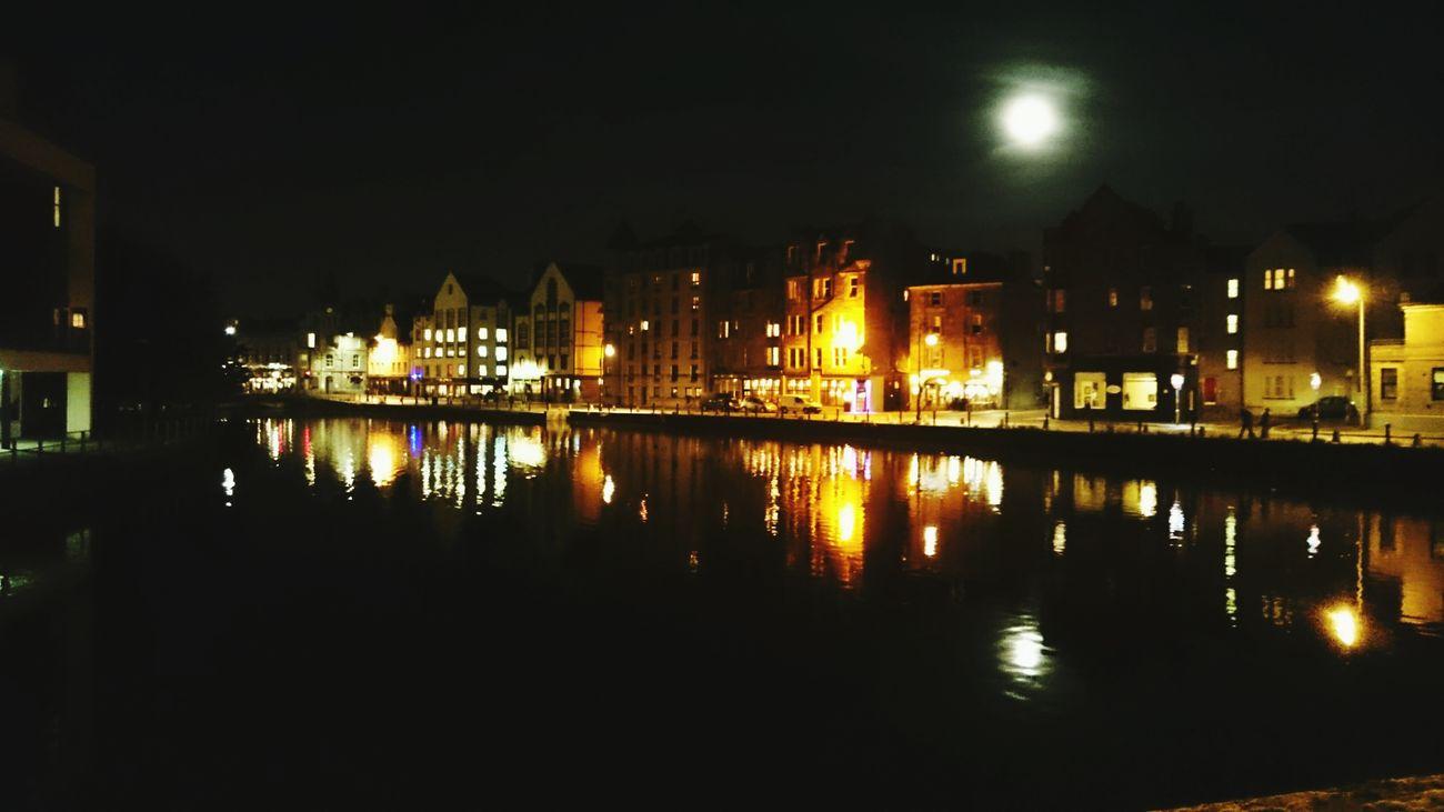 Love night walks Moon Quiet Peaceful Shore Night First Eyeem Photo