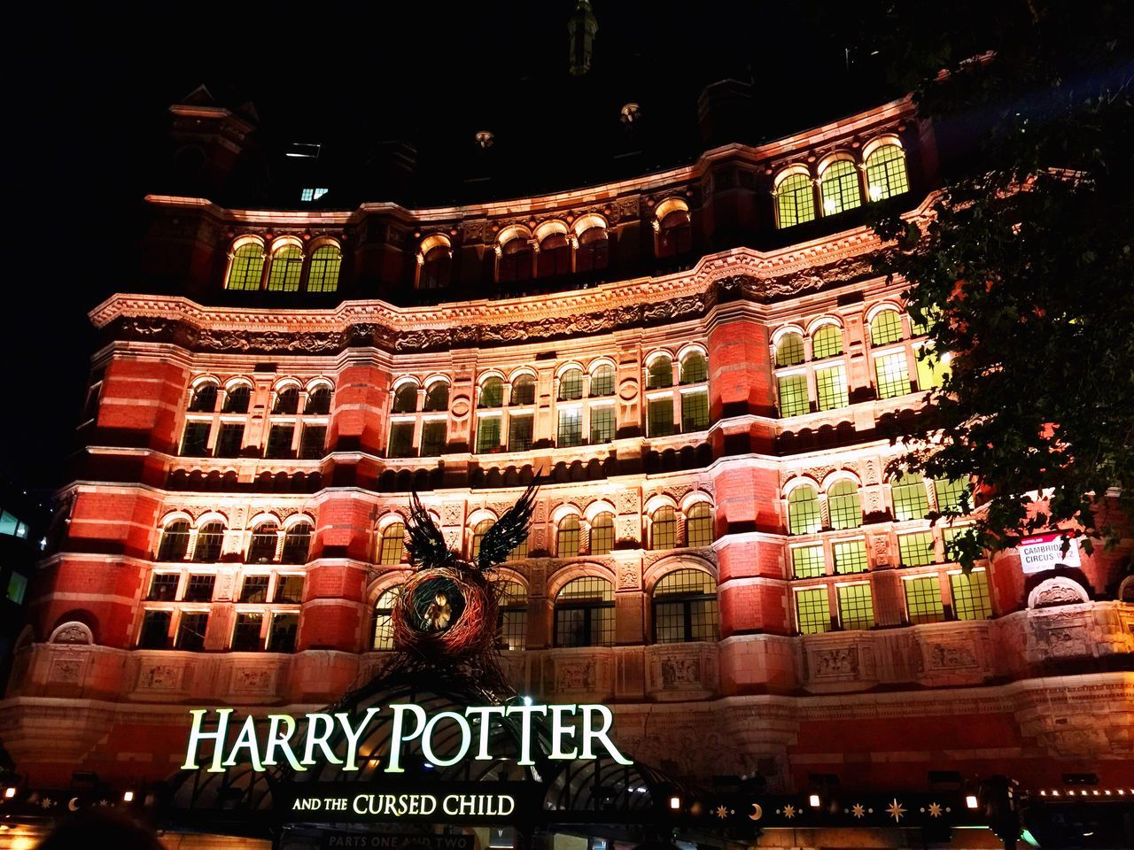 My Favorite Place Palace Theatre  Architecture London Architecture London Life London Night Harrypotter Harrypotterfan Harry Potter And The Cursed Child