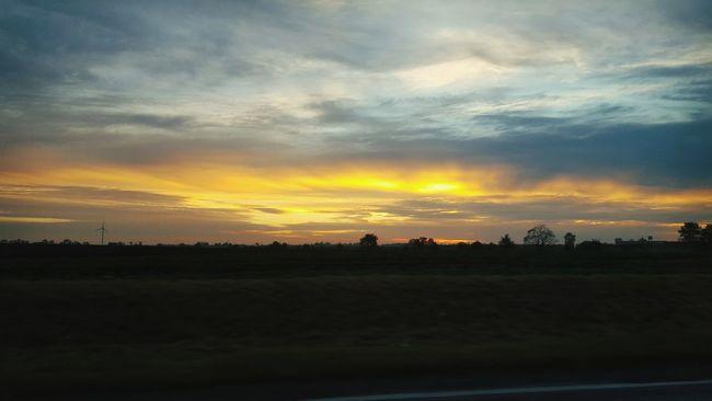 Sunset Landscape Sky Poland Bydgoszcz