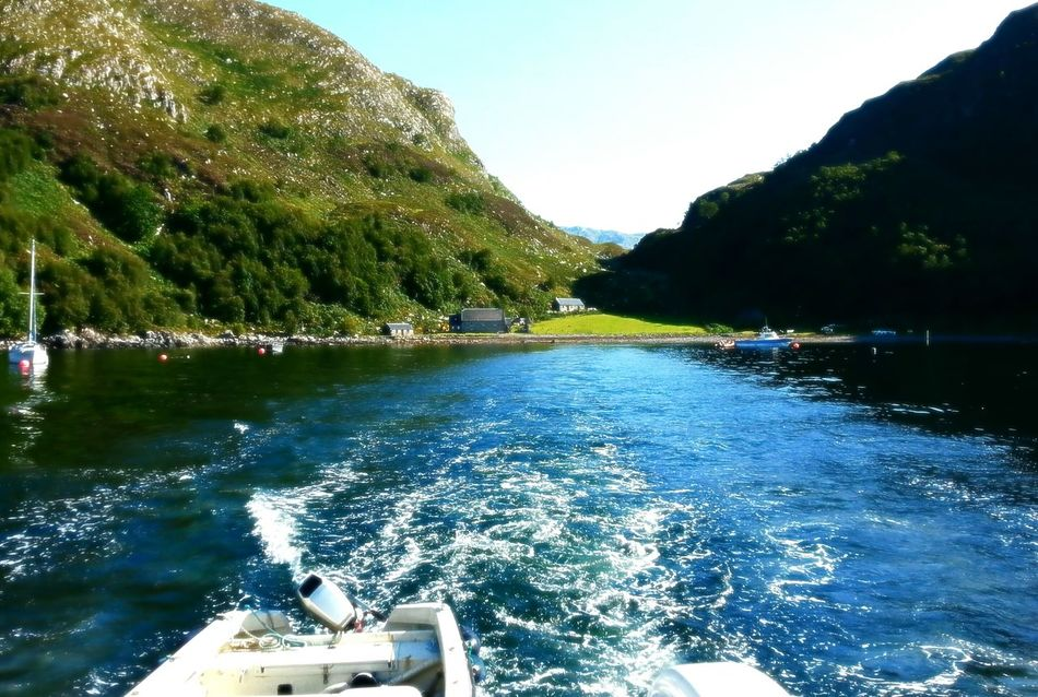 Leaving Tarbet for Mallaig West Coast Scotland Loch Nevis Boats Ferry Dramatic Scenery Beauty In Nature Beautiful View Waves, Ocean, Nature
