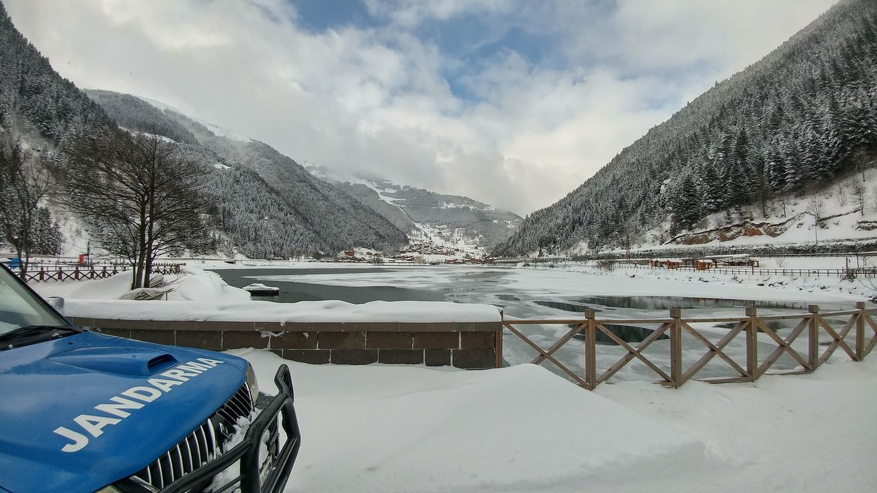Nature Snow Turkey Huzur Beauty In Nature Trabzon Uzungol Turkey Uzungöl Nofilter Reflection Cloud - Sky Lake Water Sky Mountain Day Landscape Mountain Range Outdoors Vacations Nature Cold Temperature No People