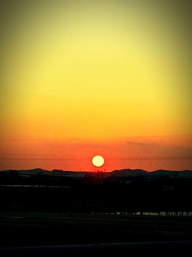 Enjoying Life Beautiful Day Taking Photos Enjoying The View Beautiful Happy Sunset River Orange Red Clouds And Sky Sky Sky_collection Japan Driving Enjoying The Sun