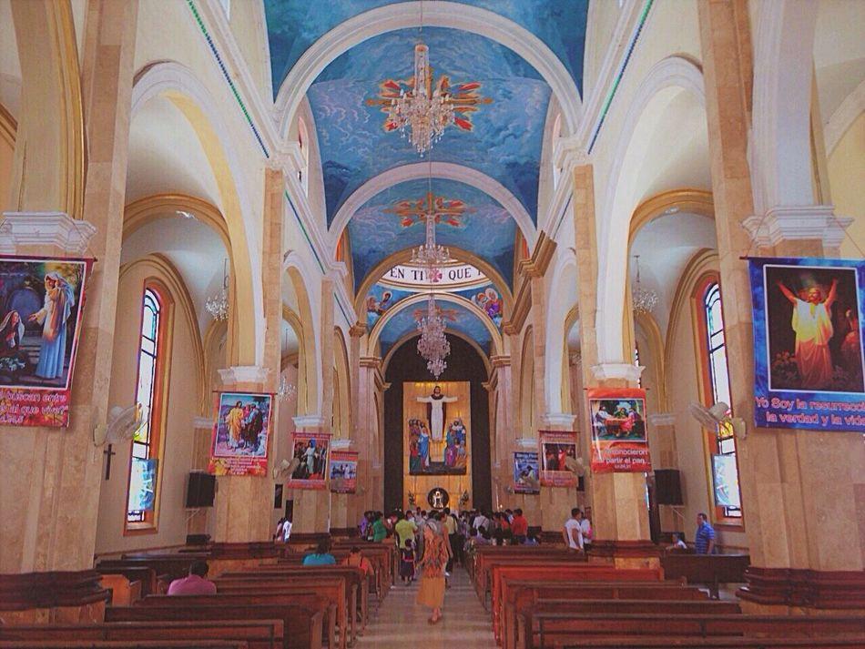 Church Mexico Paraíso Architectural Column Spirituality Art Culture