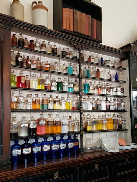 Victorian Medicines Victorian Victorian Chemist Victorian Style Victorian Period Victorian Times Old-fashioned Shelf Indoors  Illuminated No People Medicines Medicinalmixtures Medicinals Medicating Medical Equipment Medical Care Ointment EyeEmNewHere