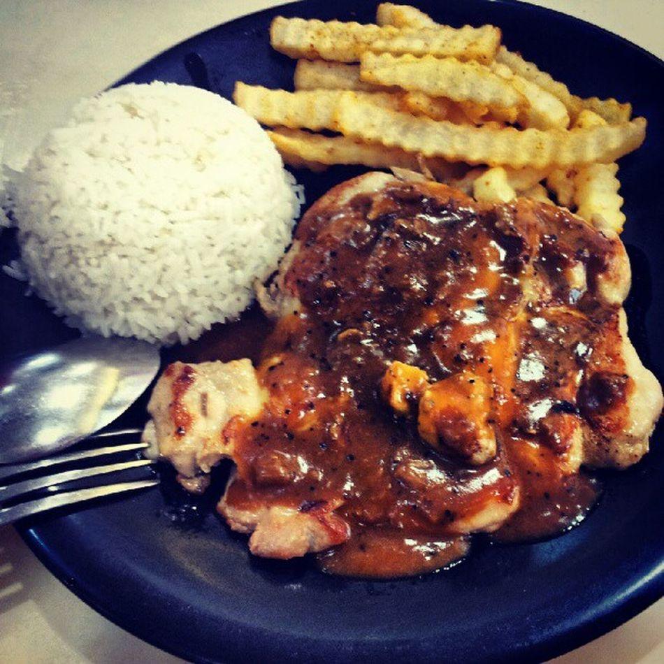 Dinner with @kimfdezlim Food Blackpepperchicken