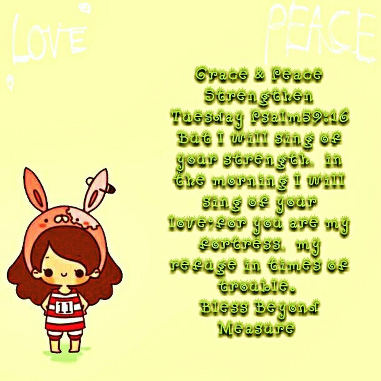 Grace & Peace Strengthen Tuesday