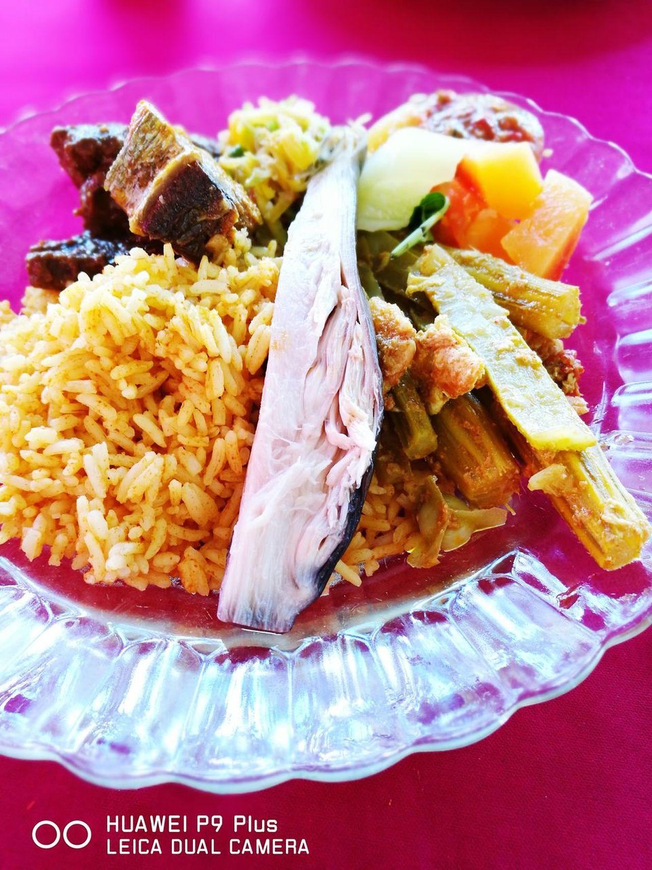 Kenduri kampubg style and we found rare foods eg merunggai and banana flower. Nusantara Food And Drink No People Food Kenduri Kahwin Ulam