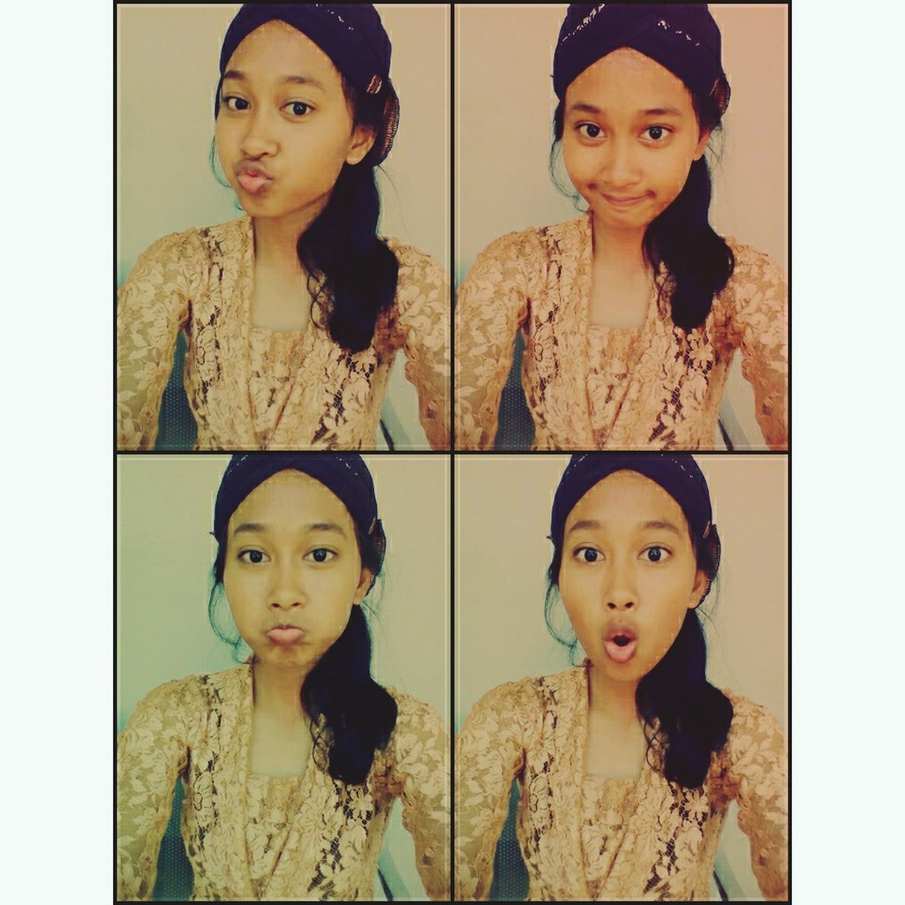 "My Unique Style is wearing ""blankon"" and ""kebaya"", a traditional clothes from Yogyakarta, Indonesia Hello World Cheese! That's Me Hi!"