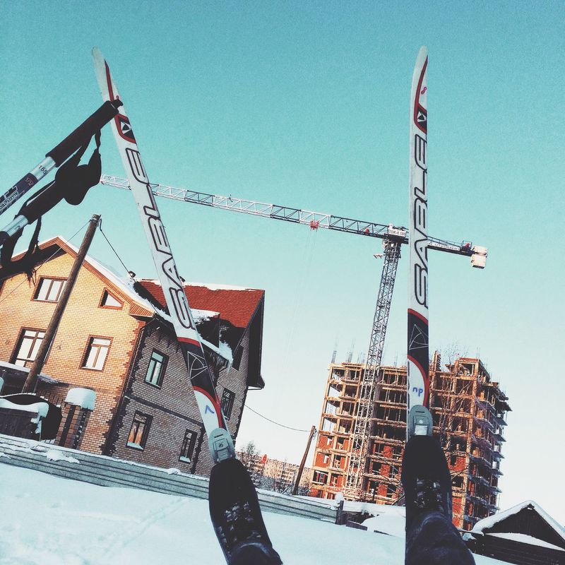 лыжи Skis Syktyvkar Construction Relaxing That's Me Enjoying Life