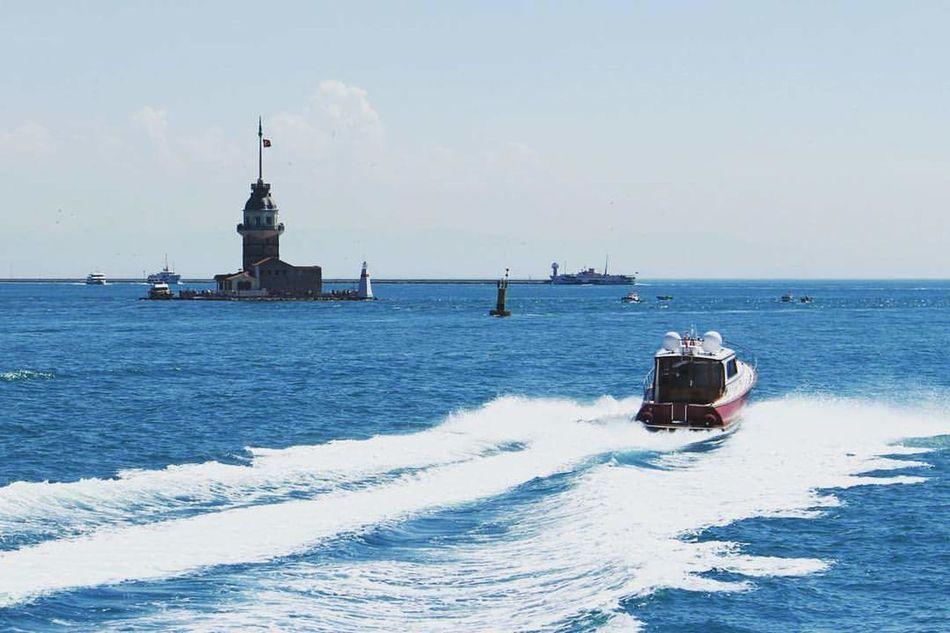Sea Water Blue Tbt Summer Day No People Nature Kızkulesi Vapur Ve İstanbul Üsküdar Kız Kulesi