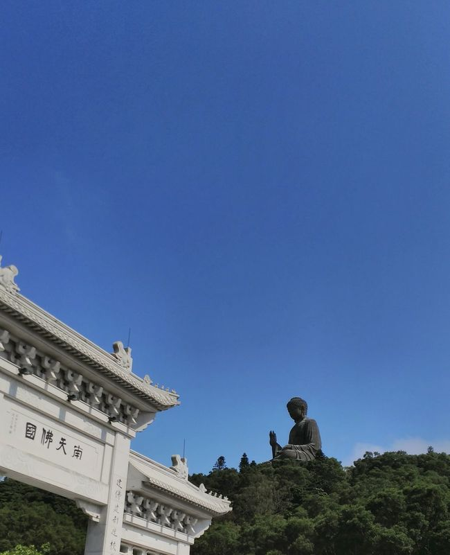 Showcase March Big Buddha Azure Sky Serenity Peace And Quiet