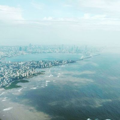 Sky Sea Water Beauty In Nature Tranquility Aerial View Scenics Nature Cloud - Sky City Cityscape Day No People Tranquil Scene Outdoors Waterfront Architecture Horizon Over Water Mumbaikar