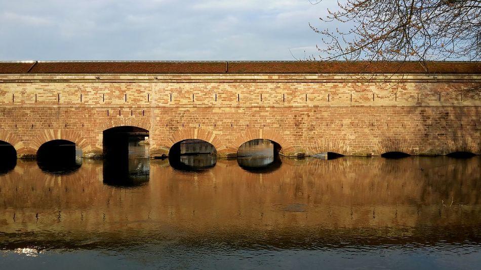 Bridge Water Reflections Symetrical Urban Geometry Nofilter
