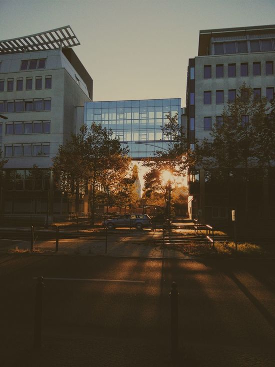 Sunset Leipzig Architecture Running