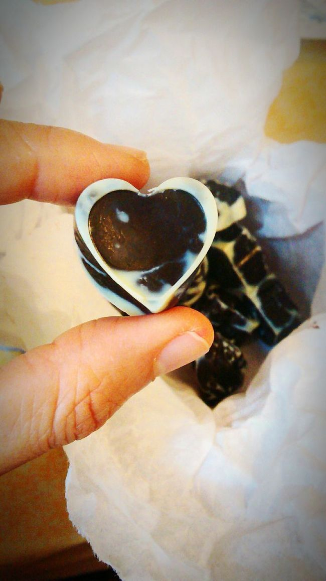 Chocolate! Homemade Chocolate  Heart Chocolate Valentine's Day  Valentines Day Yummy Yummy Special Moment Special One
