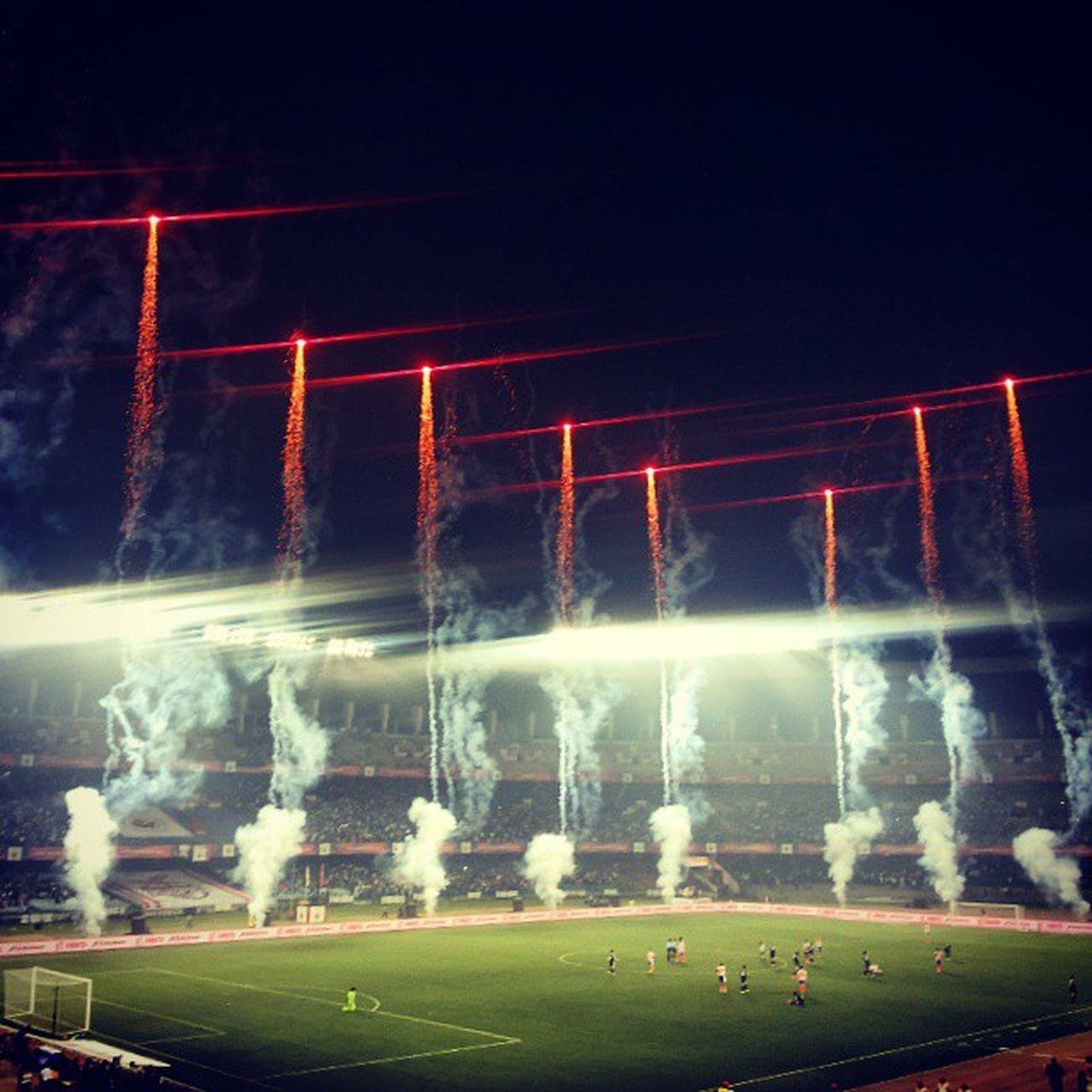 Fatafati Football ! Another Victory for Atletico de Kolkata . Live from Salt Lake Stadium. Amazing Evening . :) ADK Isl Fireworks Beautiful