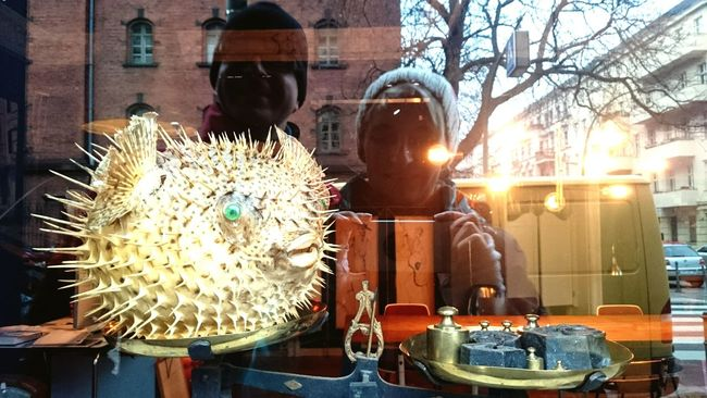 Showcase: January First Photo 2016 Streets Of Berlin Me And My Friend Decoration Better Look Twice Windows Showing Imperfection Window Reflections Kugelfisch Selfie With My Friend in Berlin, Germany