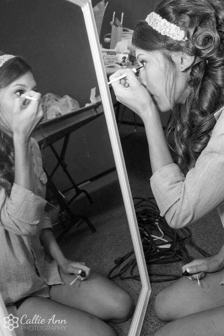 Bride Stacie puts on make-up before the ceremony in Fortcollins Colorado Blackandwhite Wedding Photography OpenEdit EyeEm Best Shots EyeEmBestPics