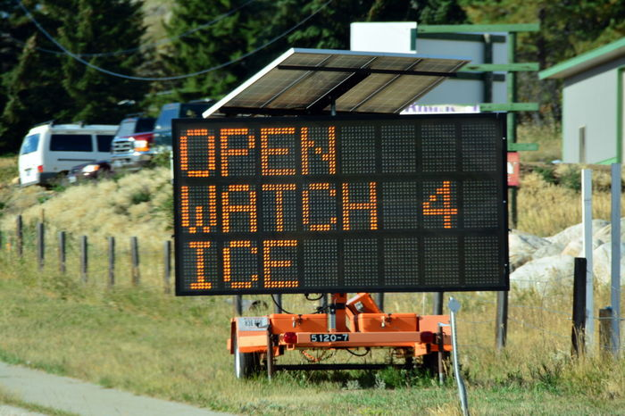 Beartooth Pass Highway Late Summer. Beartooth Beartooth Pass Day Farm Montana No People Outdoors Rural Season  Sign Transportation Traveling Warning Sign Watch Out