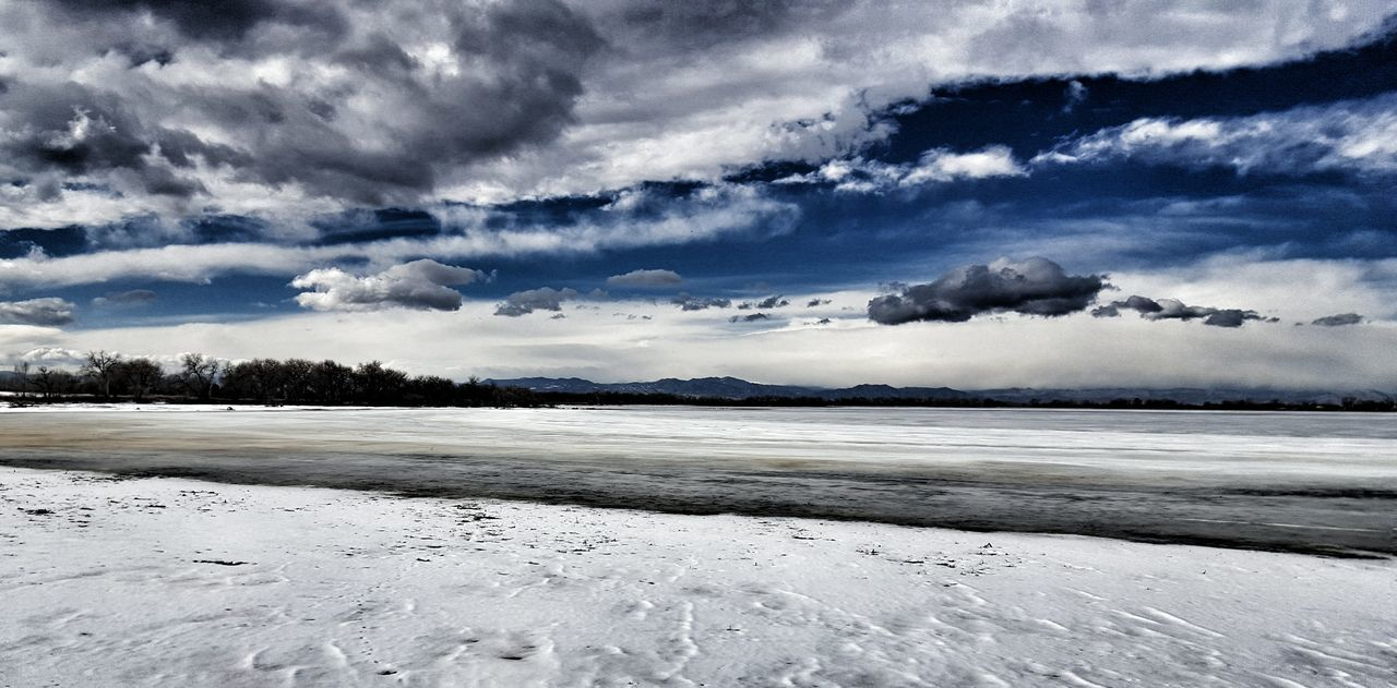 There's a storm coming... Clouds Clouds And Sky Barr Lake State Park Frozen Frozenlake