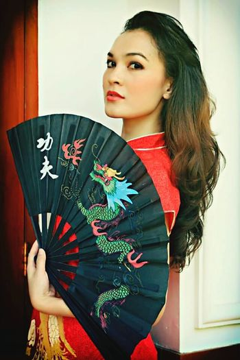 Gong Xi Fa Cai Women Portraits China New Year Red Girl In Red Beautiful In Red Check This Out