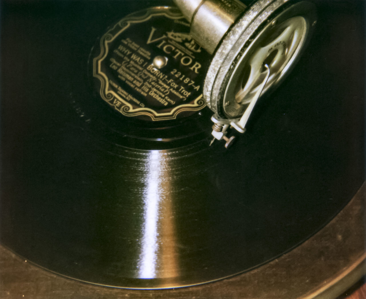 78rpm Records Grammaphone Motion Mu Need Old-fashioned Record Groove Reproduction Shiny Stylus Victor Record Victrola Why Was I Born